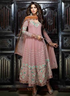 Awesome Mauve Georgette Anarkali Suit, Product Code : 3881, shop http://www.sareesaga.com/awesome-mauve-georgette-anarkali-suit-3881,  Email :support@sareesaga.com, What's App or Call : +91-9825192886