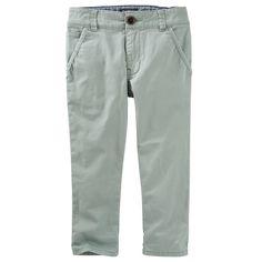 Toddler Boy OshKosh B'gosh® Stretch Twill Pants, Size: 4T, Green