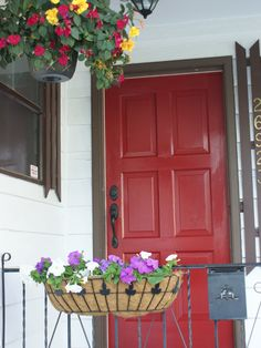 All American red door with flag. Im doing this, this summer some ...
