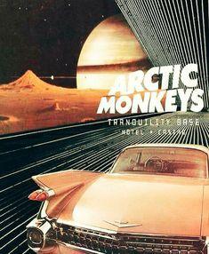 Arctic Monkeys poster from the album Tranquility Base Hotel + Casino Imagem de arctic monkeys, music Room Posters, Band Posters, Poster Wall, Poster Prints, Bedroom Wall Collage, Photo Wall Collage, Picture Wall, Arctic Monkeys Poster, Arctic Monkeys Wallpaper