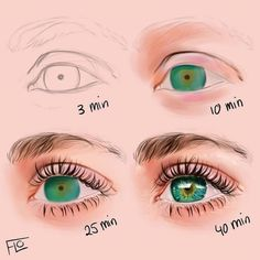 drawings sketches easy drawing people happy eye drawing how eye eyes cartoon how to draw eyes realistic eye drawing colo Eye Drawing Tutorials, Digital Painting Tutorials, Digital Art Tutorial, Drawing Techniques, Drawing Tips, Art Tutorials, Drawing Sketches, Digital Paintings, Drawing Faces
