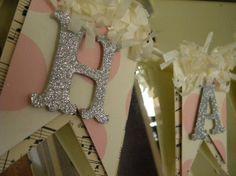 Happy Easter Banner, DIY easter garland, Easter paper crafts, vintage style easter  #Easter # DIY #craft #ideas www.loveitsomuch.com