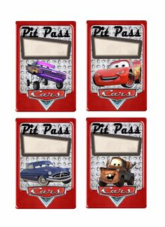 Pit Pass Printables Disney Cars Party Birthday Parties 3rd