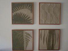 Patricia Chica, murales en ceramica. Serie Helechos