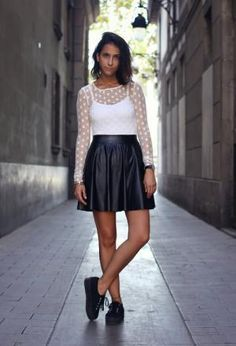 This is the perfect leather skirt! <3<3<3