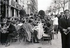 Cafe Negresco, calle Alcala. Madrid, 1935