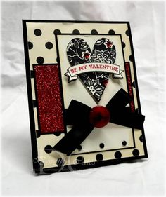 SC317 Glittery Be Mine by smartblonde_2000 - Cards and Paper Crafts at Splitcoaststampers
