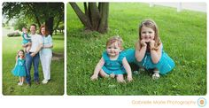 Gabrielle Marie Photography Family Session - Teal and White - Summer Family Portraits