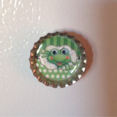 Cute Frog Bottle Cap Magnet