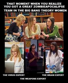 A Great Zombieaocalypse Team in The Big Bang Theory
