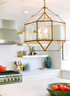 lesl-ee:  Brass lanterns from Visual Comfort, kitchen renovation by Pencil & Paper Development Co. Interiors.