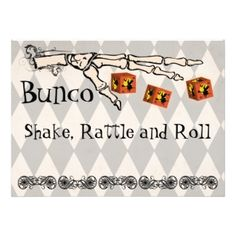 Bunco - Skeleton Hand Invitation