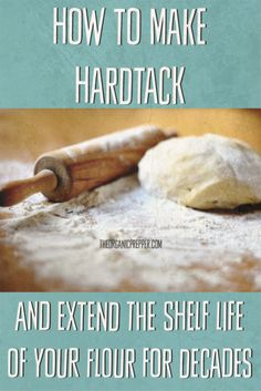 Learn how to make hardtack! You can convert flour into this easy-to-make survival food that has an almost unlimited shelf life if stored in a dry, pest-free environment. Survival Food Kits, Survival Quotes, Survival Prepping, Survival Hacks, Emergency Preparedness, Canning Food Preservation, Preserving Food, How To Make Porridge, Hard Bread
