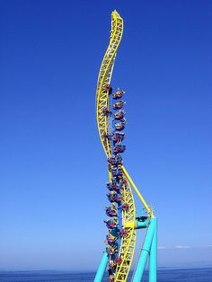 Wicked Twister Roller coaster at Cedar Point, Sandusky, Ohio Height: 215 ft  Top speed: 72 mph