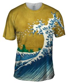 "Yizzam -Katsushika Hokusai ""The Wave"" - Mens Tshirt. Yizzam.com, where all the street stopping style t-shirts go! ... Looking for a funny t-shirt, a cool t-shirt, a crazy t-shirt? Come inside now, you beautiful tee shirt superhero."