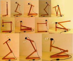Amazing Number 5 Desk Lamp From Upcycled Sunshade Slats