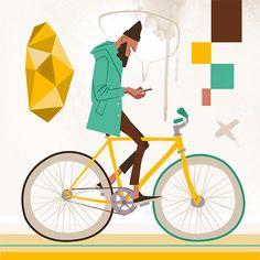 Fixie Illustrations by Thorsten Hasenkamm at @inspirationgrid