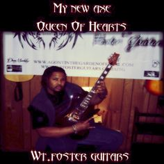 I am honored, pleased, humbled and ecstatic to announce the newly named Queen of Hearts my WT. Foster Guitar has arrived. A F8001 DLX in Coal/Dark Cherry Burst. Simply beauteous doesn't do it justice. Can't find the words. This incredible axe's beauty can only be matched by it's tone. Blown Away! I am forever and always a WT. Foster Guitars axeman. They #GetItDone My sponsors rock! Vids to come next week! Can't wait to share Agony's new tone with you! #KidInACandyStore  #guitar #metal