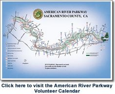 Map of the American River Parkway.  A fun day is driving to folsom, riding your bike all the way down the trail to Sacramento, then hop on RT back to Folsom.  Nice downhill ride.