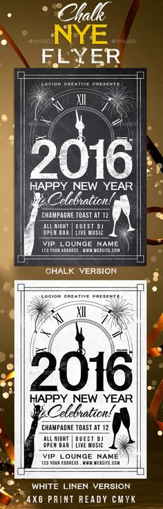 Chalk New Years Eve Party Flyer Template PSD #design Download: http://graphicriver.net/item/chalk-new-years-eve-party-flyer/13530931?ref=ksioks