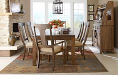 Leg Table   Collection: River Run   Item #: 4740-221   • 42W x  66-84D x  30H  • 1 - 18 inch leaf. Seats 6-8.