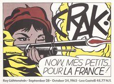 Original 1960s ROY LICHTENSTEIN Poster CRAK Leo Castell