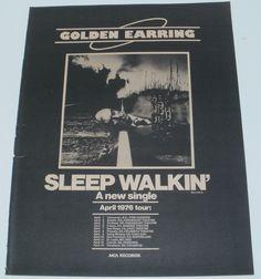 Sleep Walkin Music Ad Golden Earring Hit Single Full Page Advert
