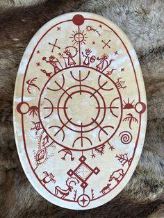 Wiccan Symbols, Shaman Symbols, Drum Lessons For Kids, Drum Craft, Drum Tattoo, Drum Patterns, Norse Runes, Alien Art, Dope Tattoos