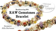 Make a RAW Gemstones Bracelet. Make this beautiful Raw Gemstones bracelet using the right angle weave stitch. Find more information and links to each of these products below by clicking show more. Our Website (Shop online & find classes or bead store Jewelry Patterns, Bracelet Patterns, Bracelet Designs, Seed Bead Jewelry, Beaded Jewelry, Bullet Jewelry, Geek Jewelry, Gothic Jewelry, Jewelry Necklaces