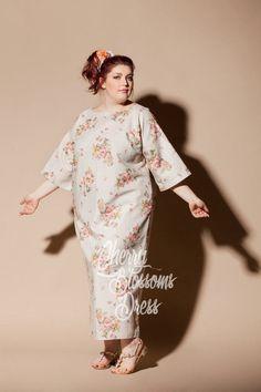 Plus size linen dress/ Plus size dress/ by cherryblossomsdress