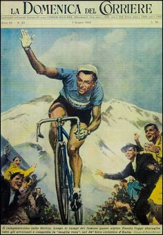 Fausto Coppi on the Stelvio. Il Campionissimo en route to taking the overall lead from Hugo Koblet in the 1953 Giro d'Italia. Coppi's 1953 Giro triumph would be his fifth and final in the Corse Rosa. Found on Jered Gruber's Flickr stream