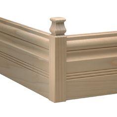 1.1165-in x 6.75-in Interior White Hardwood Outside Corner Baseboard Moulding Block