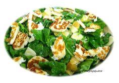 Σαλάτα Σπανάκι Με Μήλο,Σως Μελιού Και Χαλούμι! ~ Χριστίνας ...Μαγειρέματα! Salad Bar, Feta, Zucchini, Salads, Food And Drink, Vegetables, Cooking, Sweet, Recipes