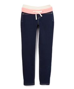 Take a look at this Coral Waistband Jeggings - Girls today!