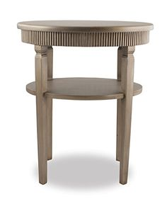 """Champagne Oval Side Table with Shelf, 21"""" x 15"""" x 25.25"""" Split P http://www.amazon.com/dp/B014LL6W50/ref=cm_sw_r_pi_dp_OHl4vb01DC52S"""