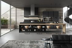 Gicinque kitchens: modern Italian kitchens with quality and contemporary design. Discover all our models of modern kitchens. Kitchen Cabinet Design, Modern Kitchen Design, Modern House Design, Interior Design Kitchen, Modern Kitchens, Living Room Kitchen, Home Decor Kitchen, Industrial Style Kitchen, Kitchen Remodel