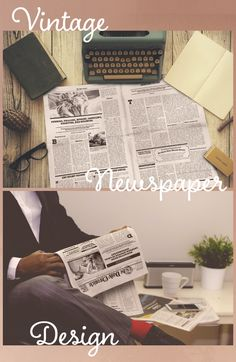Old school newspaper template design!