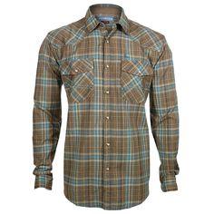 Cody James® Men's Plaid Print Long Sleeve Western Shirt