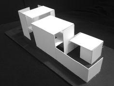 Linear Scheme model Eco Architecture, Architecture Collage, Architecture Student, Concept Architecture, Amazing Architecture, Contemporary Architecture, Folding Structure, Communal Kitchen, Co Housing