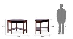 Collins corner study table dark walnut 06