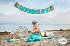 Crochet Girls Mermaid Tail Photography Prop