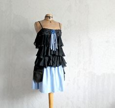 Ruffle Black Dress Country Clothing Music by BrokenGhostClothing