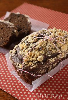 chocolate chip crumb cakes, very yummy, my hubby thinks it's too chocolately (I say there is no such thing) haha... I will make again for sure!
