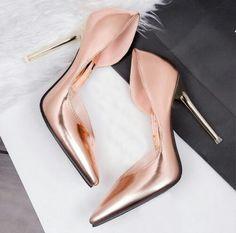 Metallic Heels! #Beachwear #LadyLuxSwimwear #LuxurySwimwear #bikinis