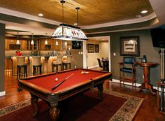 Custom Pool Room, designed by Cord's Cabinetry