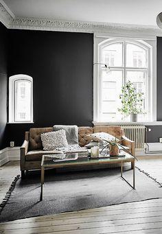 Black walls - via cocolapinedesign.com