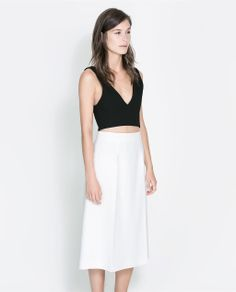 Image 1 of CROPPED TOP WITH ZIP from Zara