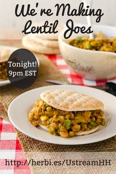 Lentil Joes From Light & Lean! | Happy Herbivore | #recipe #vegan (You'll find this on the Happy Herbivore YouTube channel.)