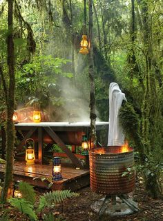 Outdoor bath at Hurunui Jacks