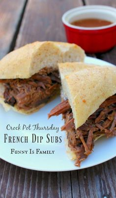 These Crockpot French Dip Subs are a family favorite! If you're looking for an easy crockpot recipe that will be loved by both kids and adults, here it is!